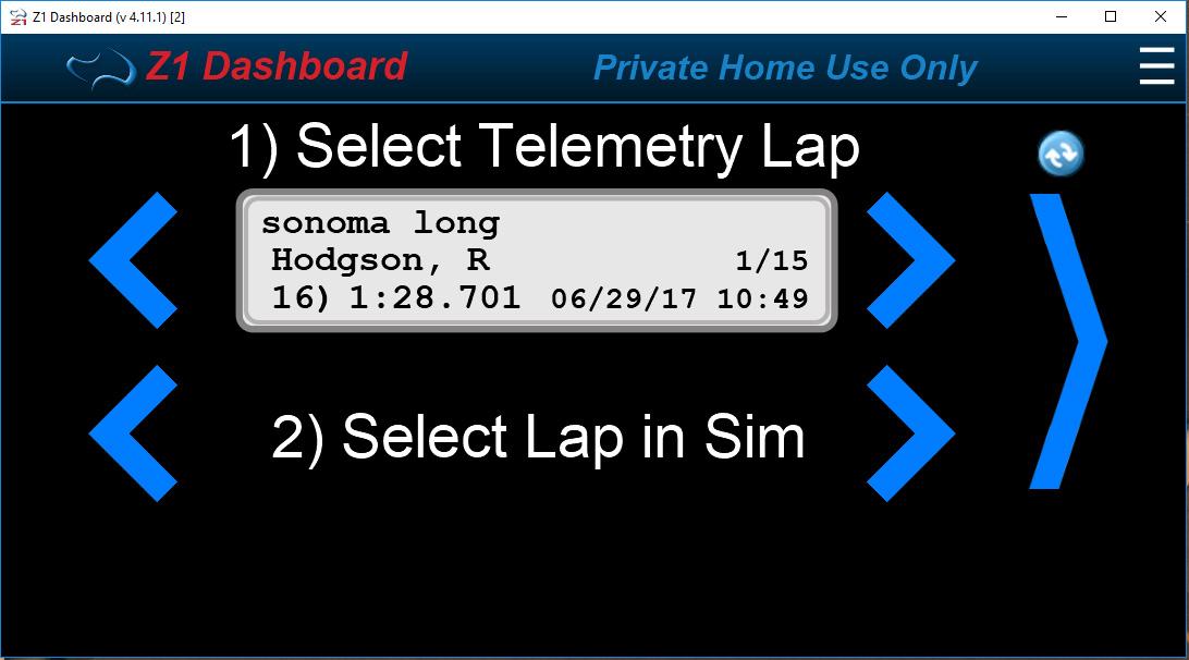 Z1 Dashboard : iRacing Telemetry
